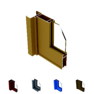 Aluminum Casement Door Section